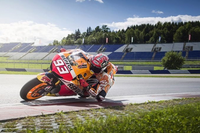Marc Marquez races during a Media Day at the Red Bull Ring in Spielberg, Austria on September 8, 2015. // Philip Platzer/Red Bull Content Pool // P-20150911-00830 // Usage for editorial use only // Please go to www.redbullcontentpool.com for further information. //
