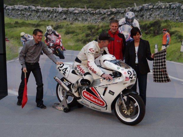 Klaus Wellmann, Messe-Geschäftsführer, Peter Rubatto (ehemaliger TT-Fahrer), Andreas Illg, Geschäftsführer MO Medienverlag und Projektleiterin Petra Rathgeber.