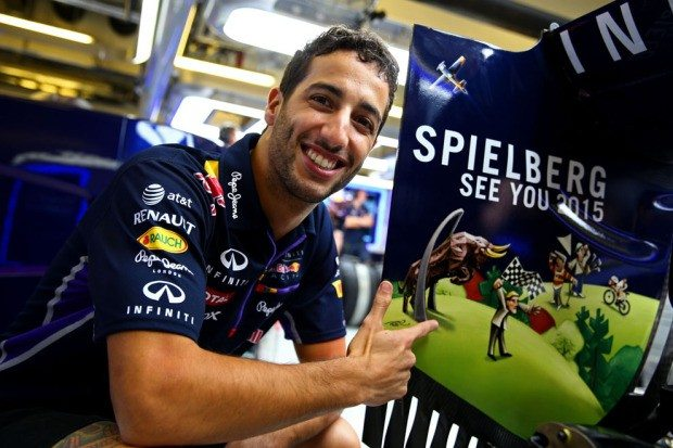 F1 Spielberg See you 2015 Red Bull Racing (c) Getty Images