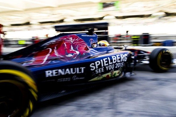 F1 Spielberg See you 2015 Toro Rosso (c) Gepa Pictures
