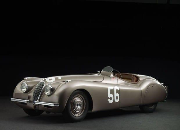 Das Siegerfahrzeug von 1955: Jaguar XK120 Alu von 1949. Dieses Auto wird auch 2015 wieder dabei sein.