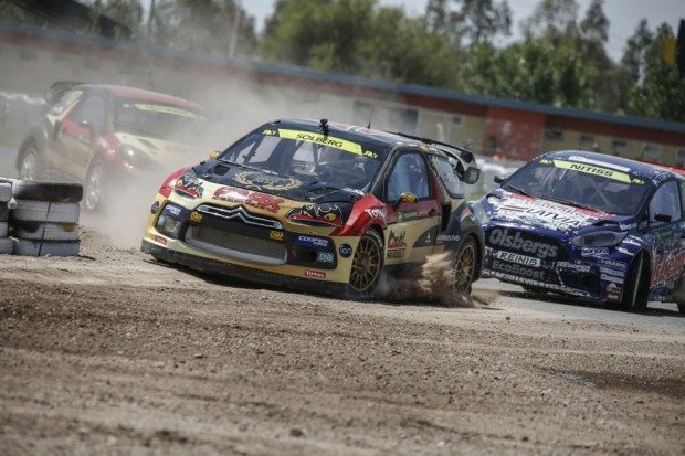 RX Weltmeister Petter Solberg leads
