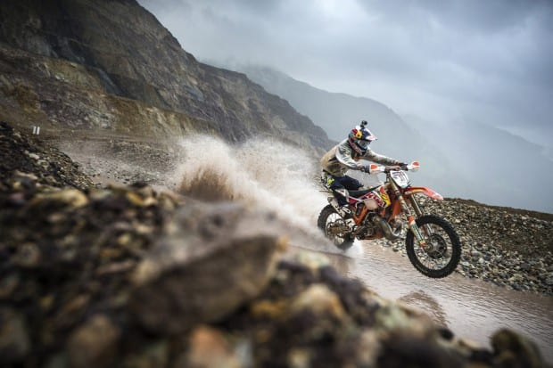 Taylor Robert performs during the Iron Road Prolog at the Red Bull Hare Scramble in Eisenerz, Austria on May 31st, 2014.