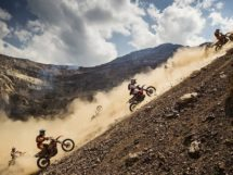 Competitors perform during the Red Bull Hare Scramble 2015 in Ei