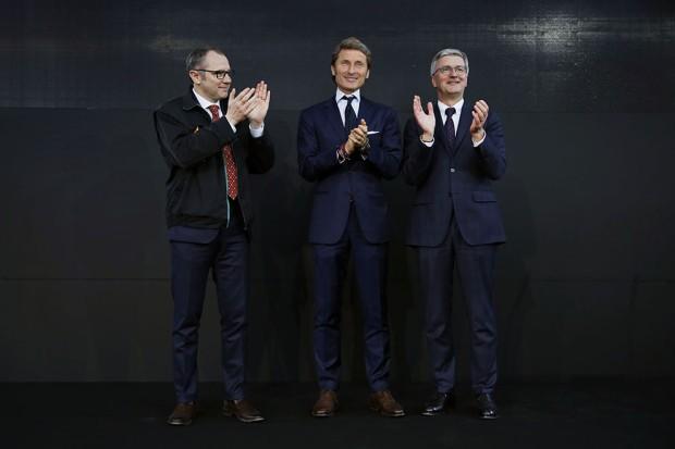 from the left S. Domenicali, S. Winkelmann, R. Stadler