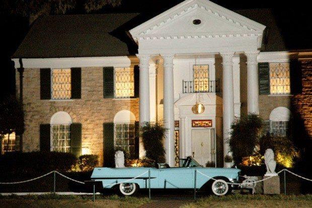 Das berühmte Elvis-Anwesen Graceland Mansion.