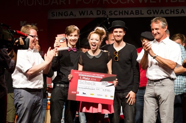 MundArt, Konzert, mundARTpop/rock-Wettbewerb, Open-Air-Finale am Nepomukplatz in Bregenz 2014.